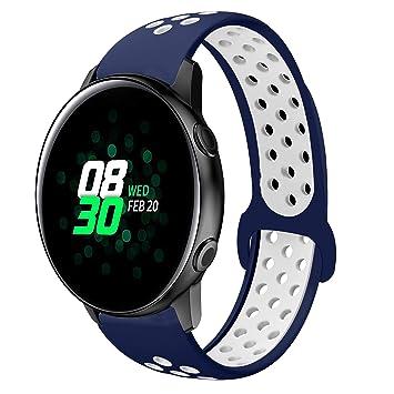 TOPsic Correa Galaxy Watch Active 40mm, Reemplazo de Banda de Silicona Suave Deportiva Pulsera de Repuesto para Samsung Galaxy Watch 42mm/Gear ...