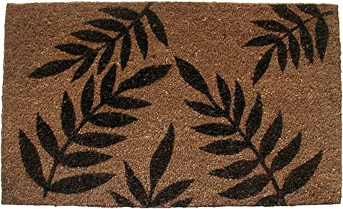 Geo Crafts Vinyl Back Fern Leaves Doormat