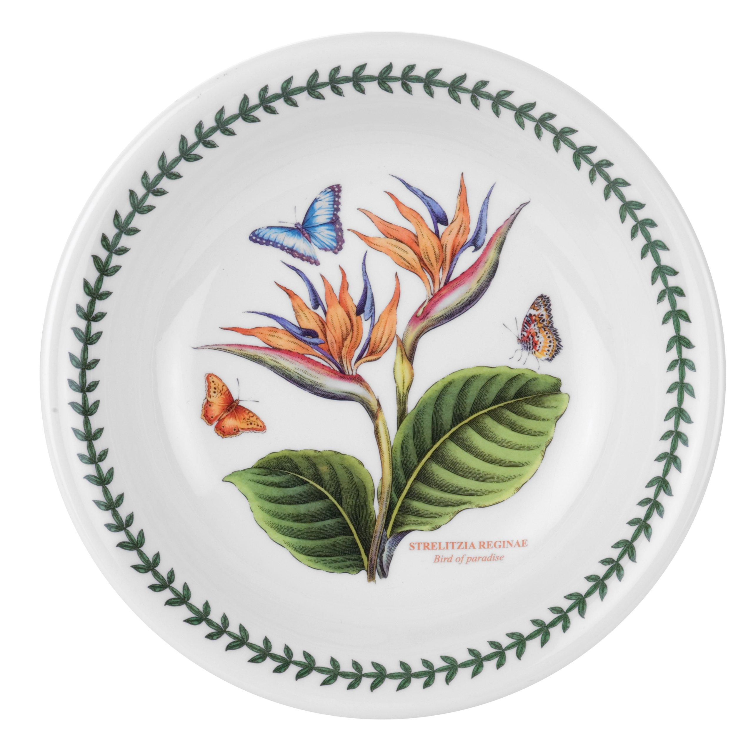 Portmeirion Exotic Botanic Garden Pasta Bowl with Bird of Paradise Motif, Set of 6 by Portmeirion