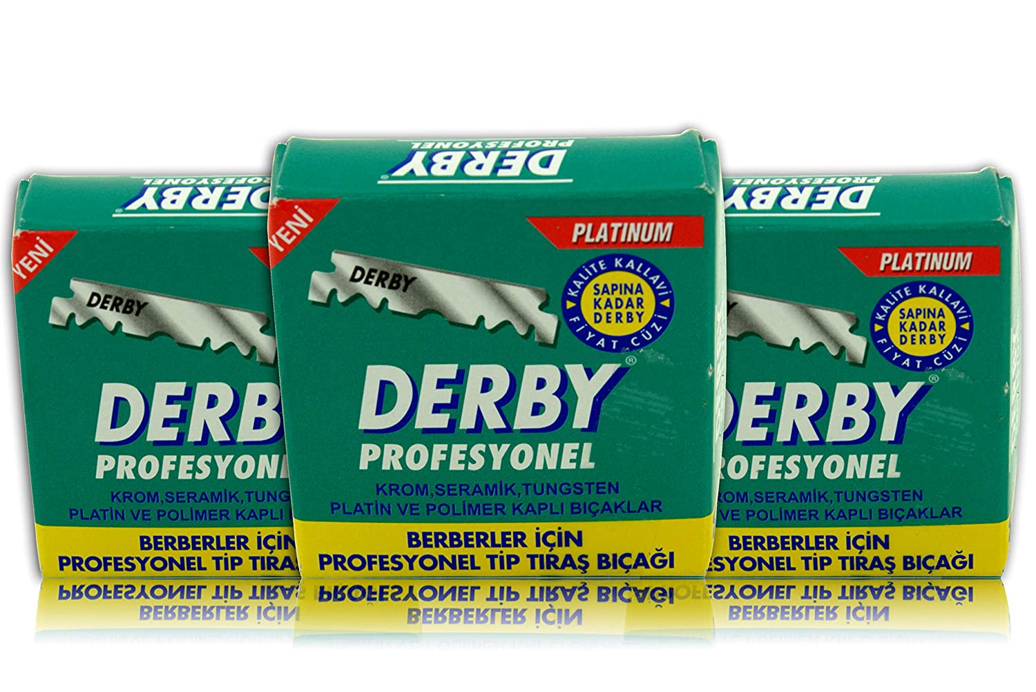 Lame Derby professionali - lame da barba derby - 15 set di pacchetti - Lame per rasoi Single Edge per rasoio da PBI
