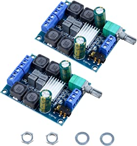 Actume 2 PCS TPA3116D2 Two-Channel Stereo High-Power Digital Subwoofer Power Amplifier Board for DIY Speakers Home Theater(2x50W 5V 12V 24V)