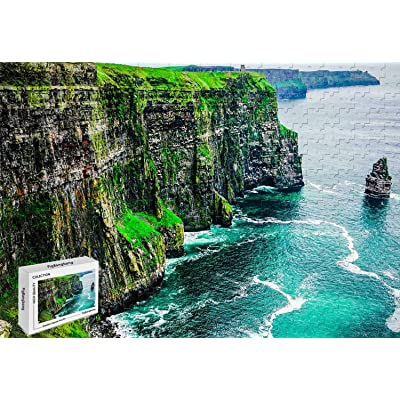 1000 Piece Jigsaw Puzzle - Cliffs of Moher County Clare Burren Ireland Wood Materials,29.5 X 19.6 Inch Entertainment Toys: Toys & Games