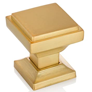 Southern Hills Satin Gold Square Cabinet Knobs   Pack Of 5, Kitchen Cabinet  Knobs,