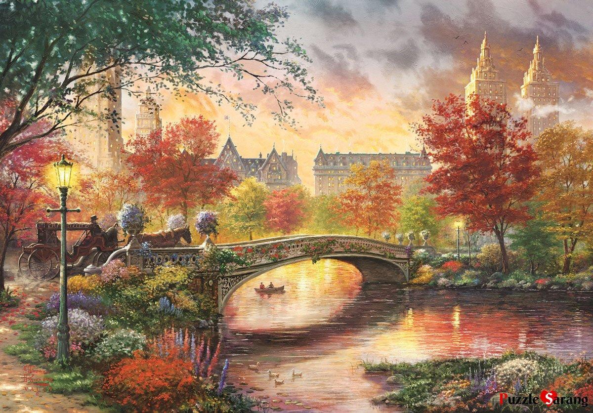 高速配送 Puzzlelife 1000 Piece Jigsawパズルin fall the fall of 1000 Jigsawパズルin New Yorkトーマスキンケード1357 B07CWD358V, 東磐井郡:c455f6d1 --- a0267596.xsph.ru