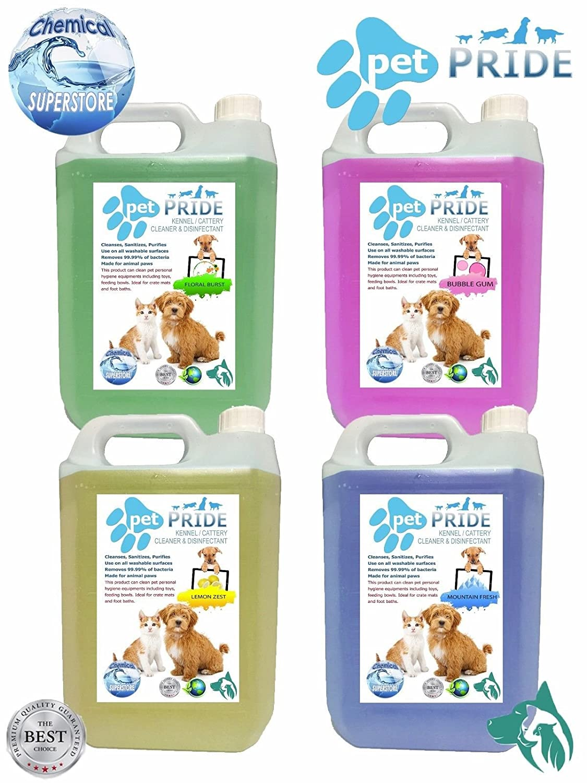 Pet Pride - de la perrera desinfectante/limpiador 5L a 25L Criaderos/perreras/sanitizers (25 L limón fresco): Amazon.es: Hogar