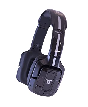 c191edf35b7 Tritton Swarm Wireless Mobile Surround Headset [PC, Mac, Mobile] - Metallic  Black: Amazon.co.uk: Computers & Accessories