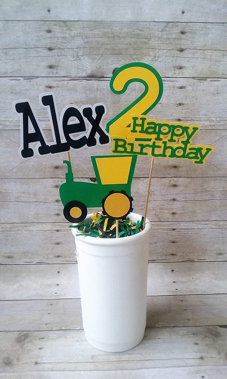 Tractor Birthday Centerpiece | tractor party | boys birthday | personalized | john deere | farm decorations