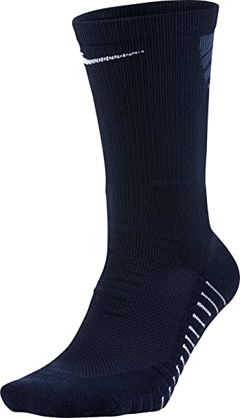 Amazon.com: NIKE Vapor Crew Calcetines (Navy/White,Small ...