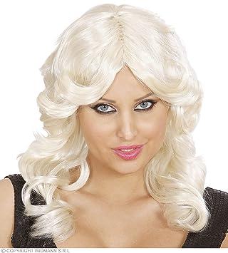 WIDMANN b0742 – Mujer de pelo largo peluca Cosmopolitan, talla única adultos en caja,
