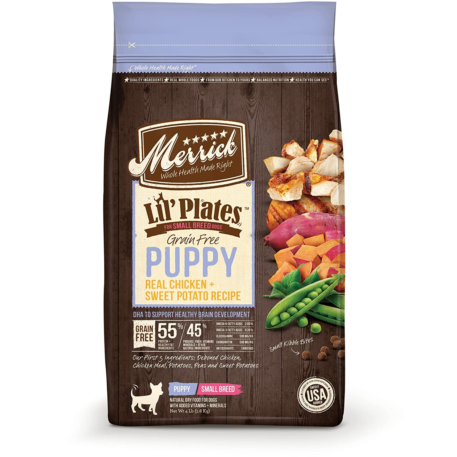 Merrick Lil Plates Grain Free Real Chicken Sweet Potato Small Breed Dry Puppy Food