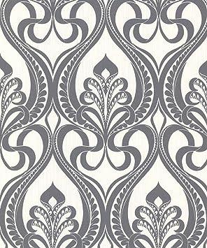 Grandeco Papier Peint Art Nouveau Or Gris Anthracite 113001