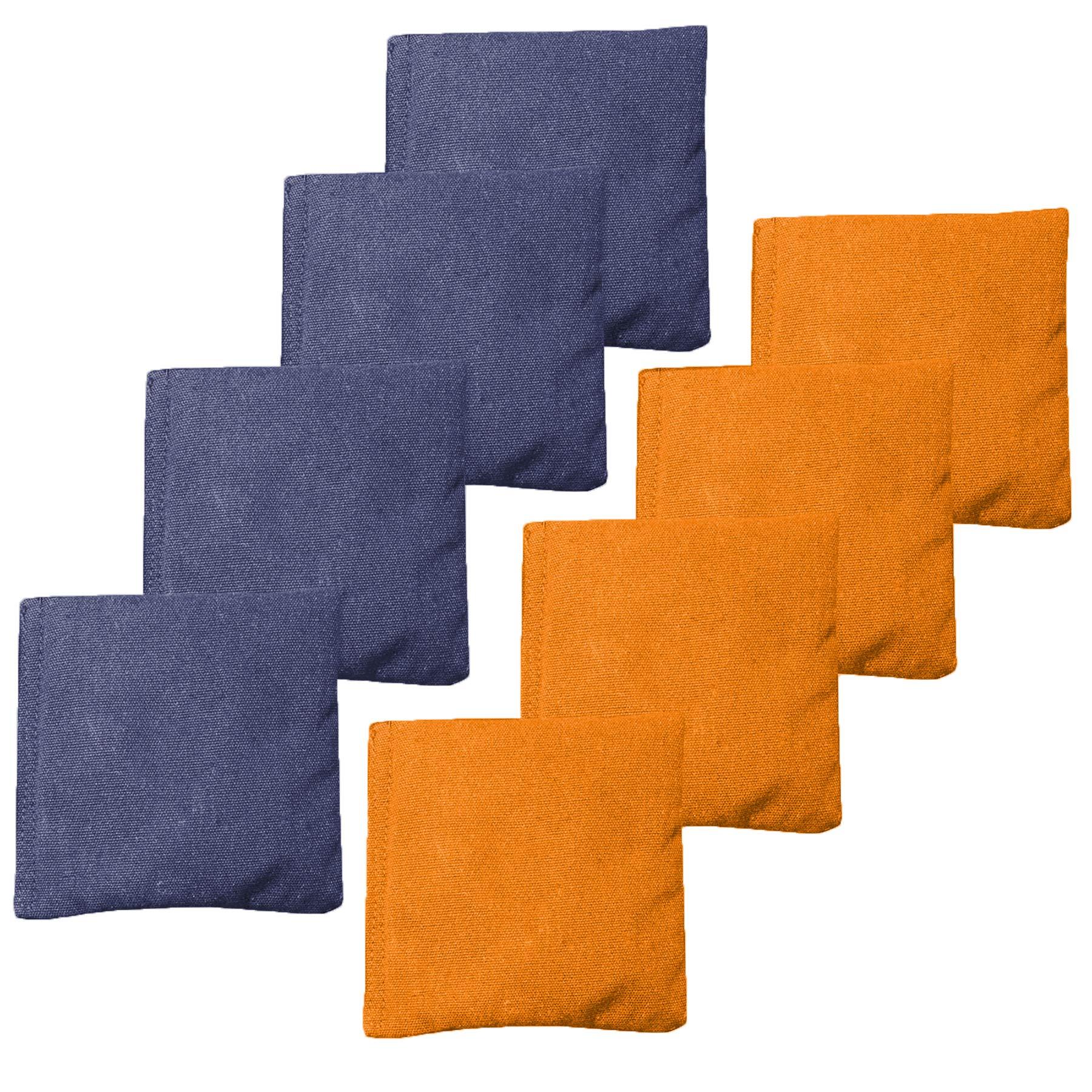 Play Platoon Weather Resistant Cornhole Bean Bags Set of 8 - Orange & Navy Blue by Play Platoon