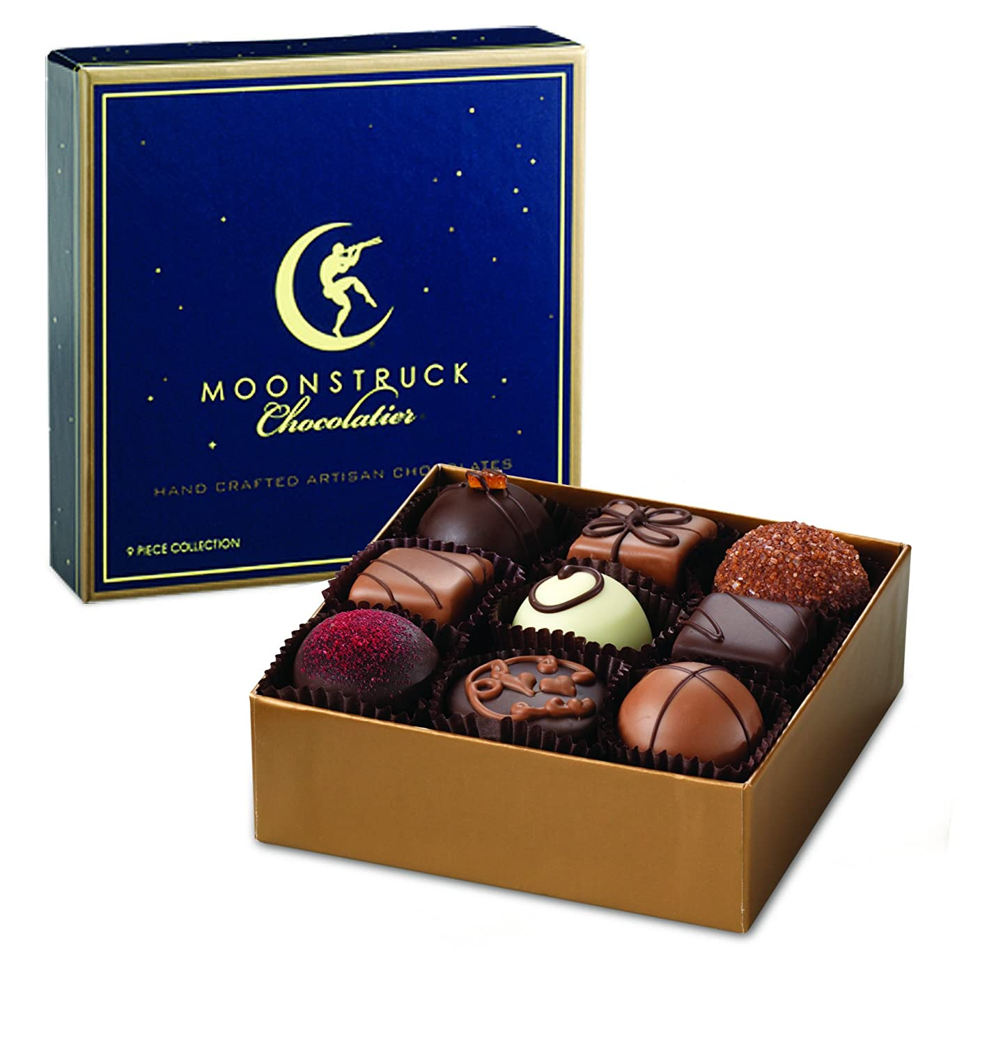 Amazon.com : Moonstruck Chocolate 9-Piece Chocolate Truffle ...