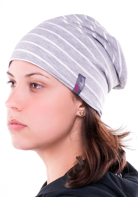 Long Bonnet fin et léger long gris - rayé - Femmes Hommes Chapeau unisexe, 2014, Croco (gris lumière blanche)