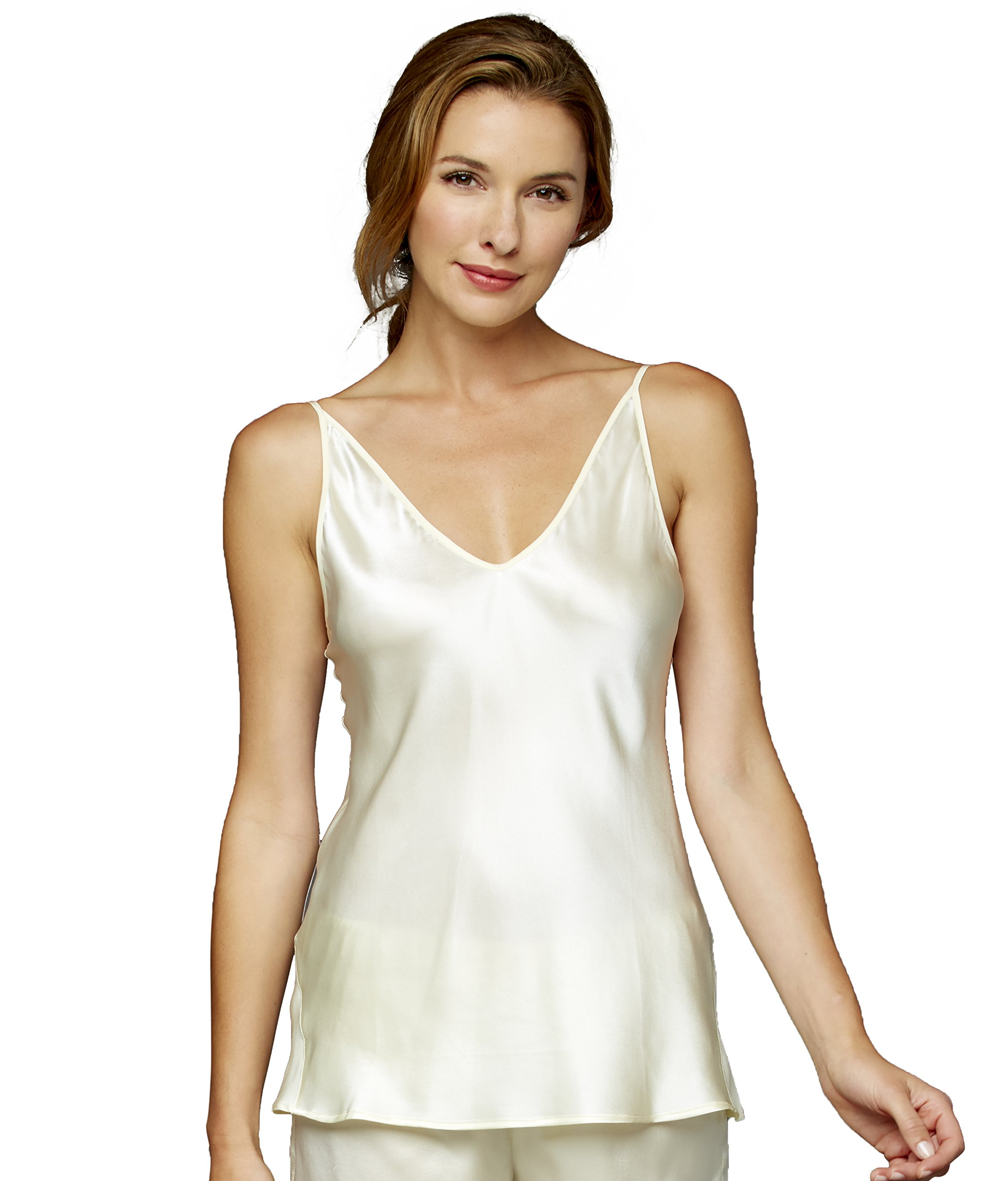Julianna Rae Women's The Splendid 100% Silk Camisole, Pearl, XL