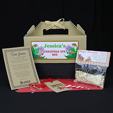 Christmas eve box personalised santa key letter magic reindeer christmas eve box personalised santa key letter magic reindeer food standard size spiritdancerdesigns Image collections