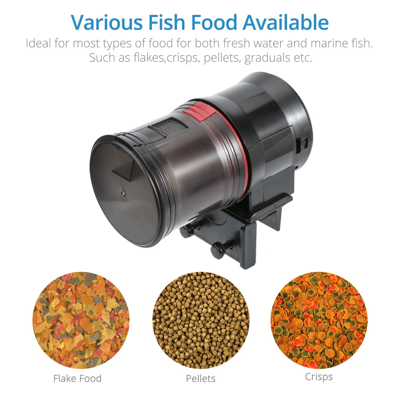 NICREW Alimentador Automático para Acuario Multifuncional con Pantalla LCD y el Tiempo de Alimentación, Fish Tank Fish Food Auto Comederos Automáticos para ...