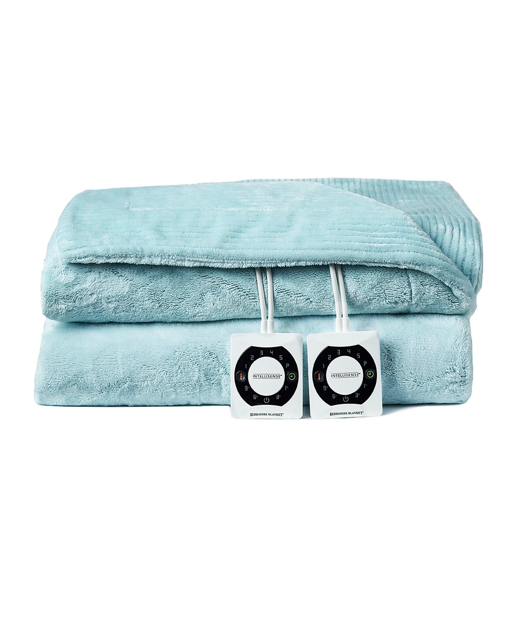 Berkshire Electric Blanket with Intellisense - Spa Blue - King Size Plush Heated Blanket