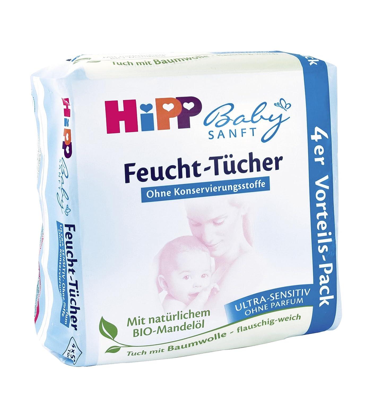Hipp toallitas húmedas para bebés ultra suave sensible, 4x52, 3-pack (3 x 208 hojas): Amazon.es: Salud y cuidado personal