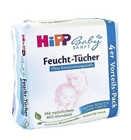 Hipp toallitas húmedas para bebés ultra suave sensible, 4x52, 3-pack (3