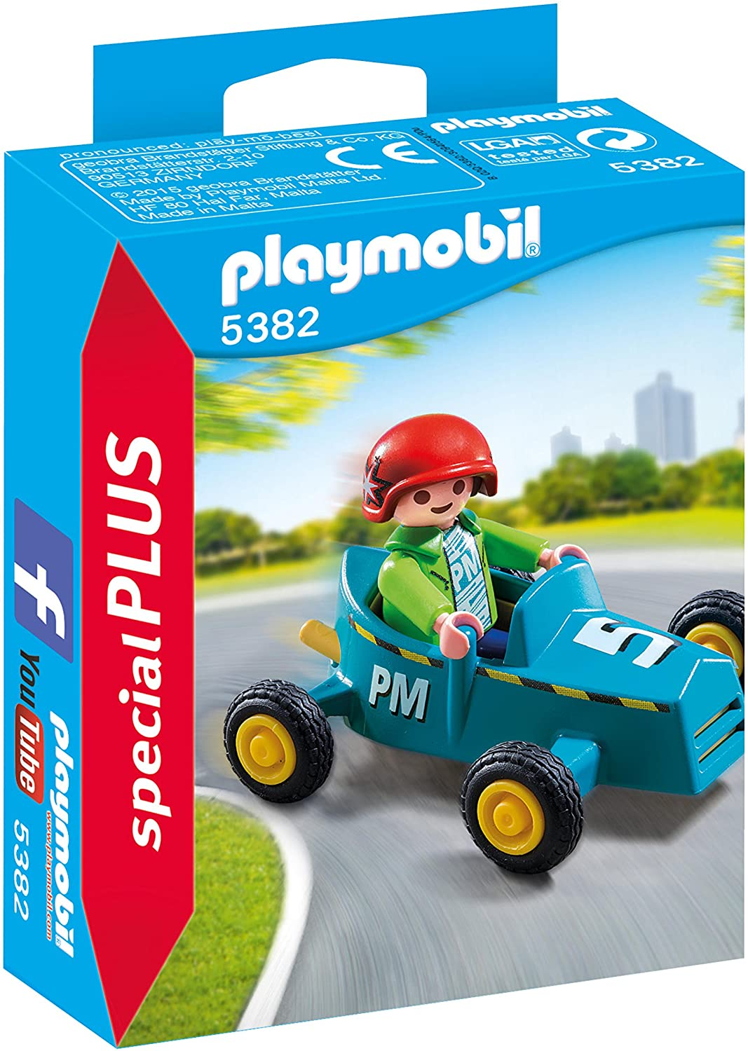 PLAYMOBIL Especiales Plus- Boy with Go-Kart Figura con Accesorios, Multicolor (5382): Amazon.es: Juguetes y juegos