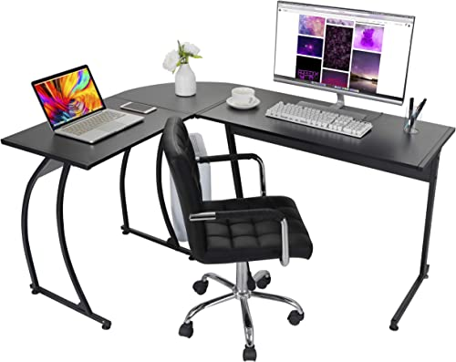 ZenStyle L-Shape Corner Computer Desk Home Office PC Laptop Table Multipurpose Gaming Workstation