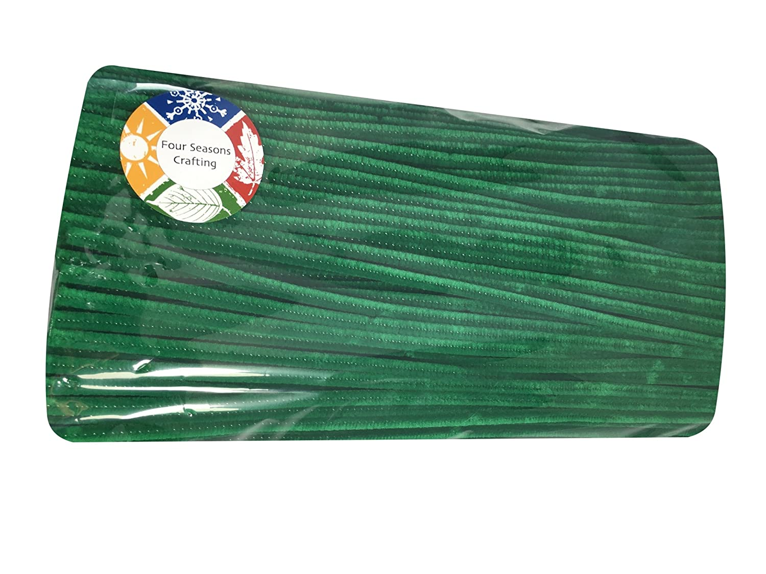 Four Seasons Crafting Chenille Stems Super Pack Pipe Cleaners 350 Piece Green