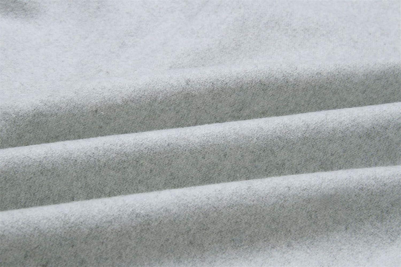Invierno Grueso Calentar Manga Larga Asim/étrico Cuello Alto Subido Cremallera Cruzado Ce/ñido Envolvente de Lana Coat Capa Abrigo Jacket Cazadora Chaqueta Chamarra Top Gris Claro