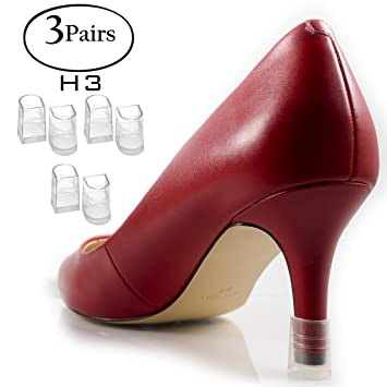 7d59ebf2c4c8a Heel Hunks Clear-Glass H3 11.5mm 3-Pairs Heel Protectors Replacement Tip  Caps for High Heel Shoes...