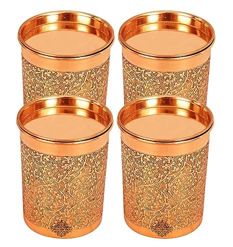 Amazon.com: IndianArtVilla - Vaso de cobre con tapa para ...