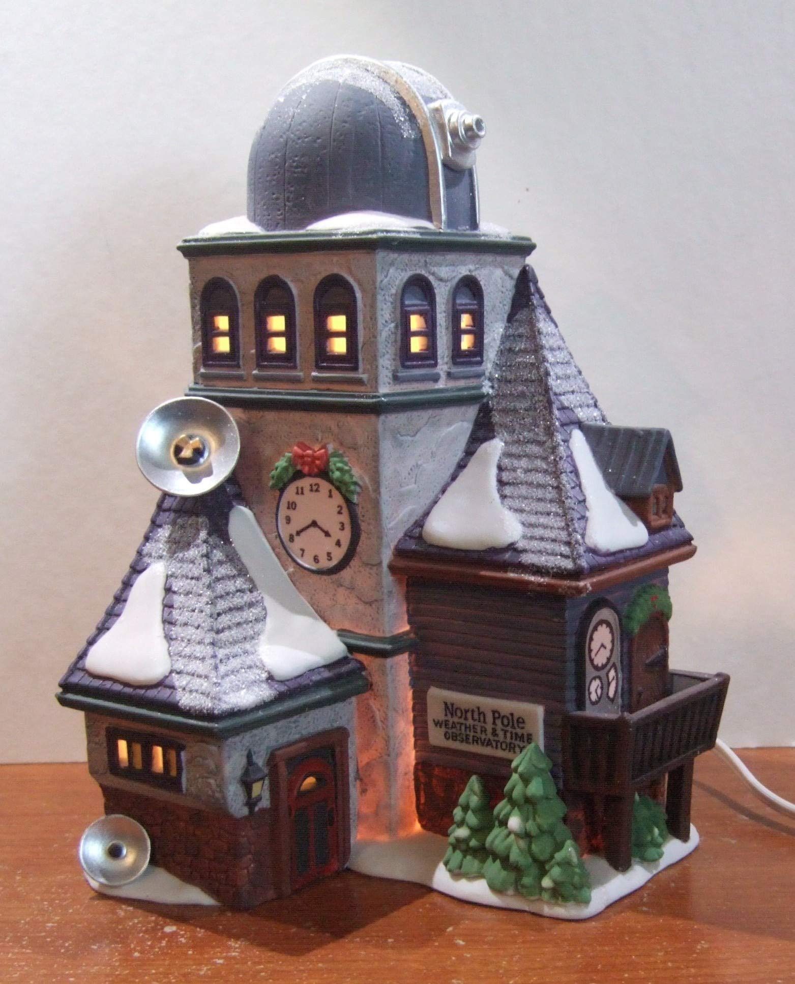 Department 56 North Pole Weather & Time Observatory