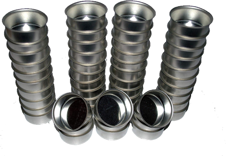 Silber//Metall Set da 10 Portacandela in Metallo//Argento con beccuccio per candeline Standard da 40 mm Naturdeko24 Metallo