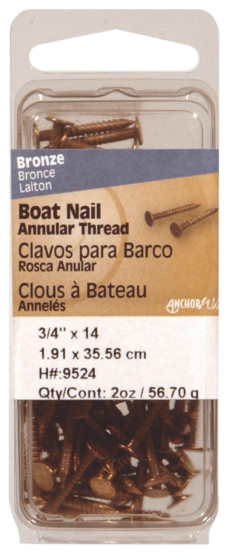 Philstone 9525 1'' Bronze Boat Nail by Hillman