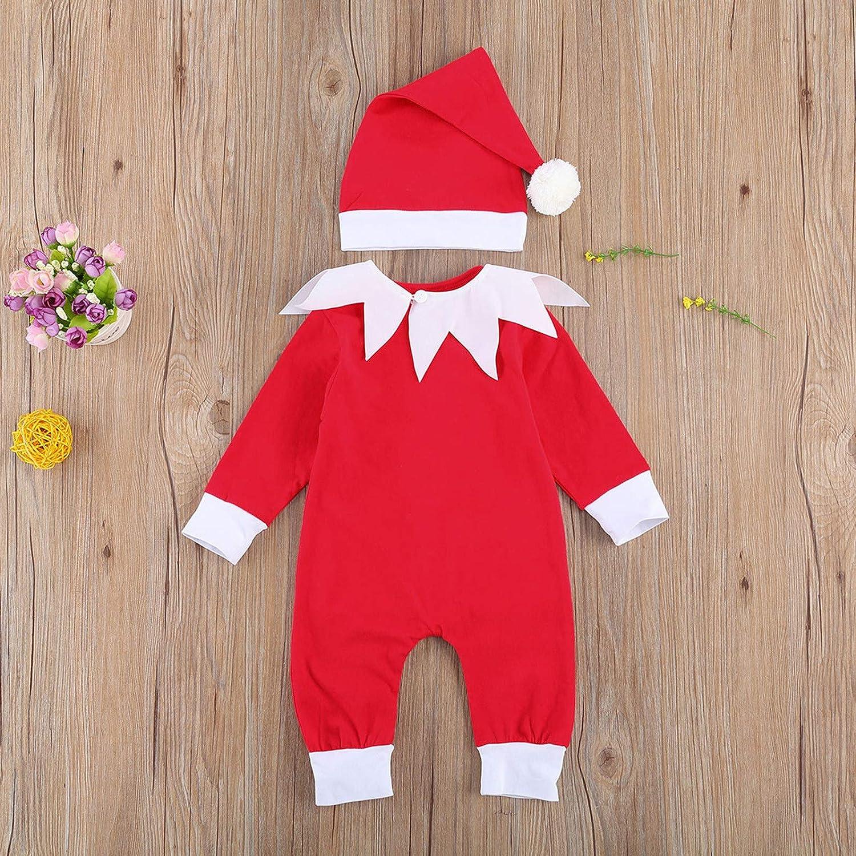 Herbst Winter Kleidung Set MCVN Neugeborene Baby Boy Girl Weihnachtsoutfits Langarm gestreifte Strampler Bodysuit Hose 2St