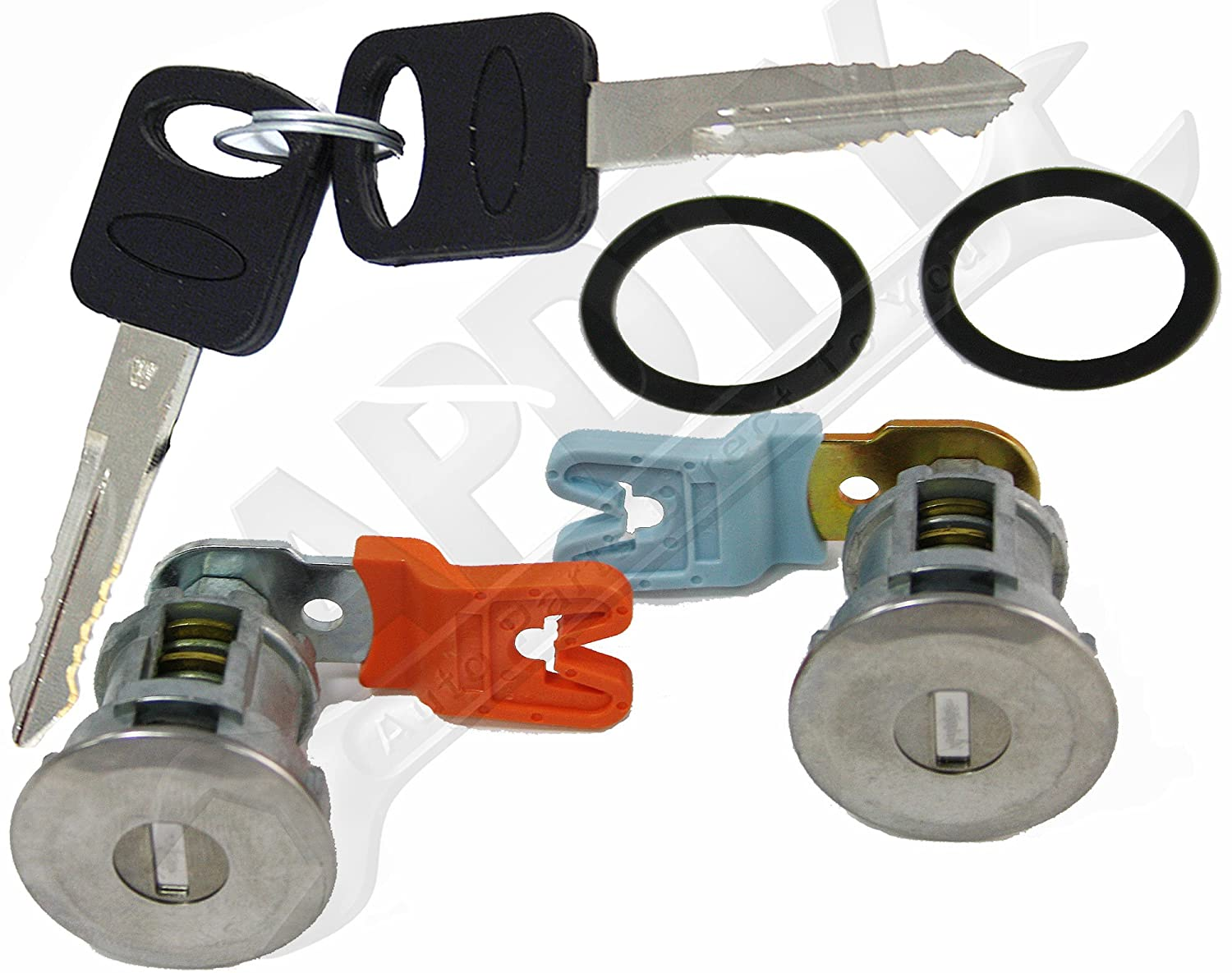 Except Smart Key or Transponder Key Models; Match Image To Your Vehicle To Verify APDTY EM69973 Door Lock Cylinder Pair With New Keys /& Gaskets For 1995-2011 Ford Trucks
