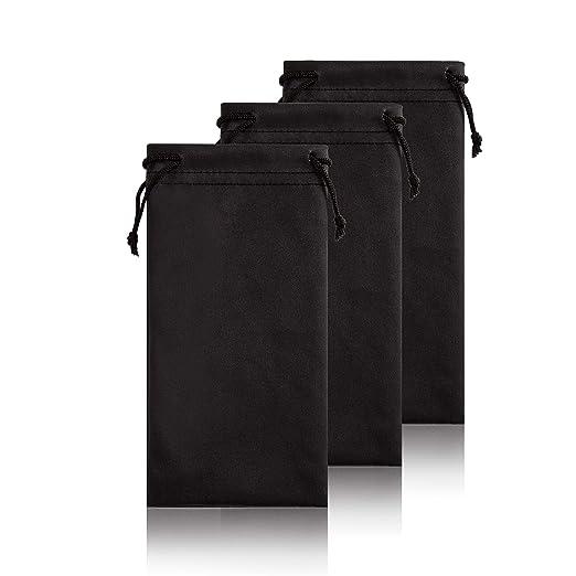 ea1417de7826 Soft Eyeglass Pouch Sunglass Case - 3 Pack Microfiber Phone Gadgets Storage  Bag