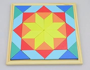 Formen und Figuren Legespiel Mosaik aus Holz Sonstige Motorikspielzeug