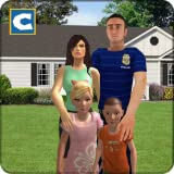 Virtual Police Dad Life: Happy Family Game