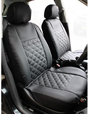 Front Grey Leather Look Car Seat Covers For Nissan Pixo 5DR 2009-2013