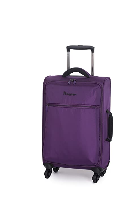 9266f19db IT The Lite Four Wheel Cabin Spinner Suitcase Lightweight Hand Luggage  Purple: Amazon.co.uk: Luggage