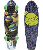 "PlayWheels Teenage Mutant Ninja Turtles 21"" Wood Cruiser Skateboard - Turtle Power Graphic"