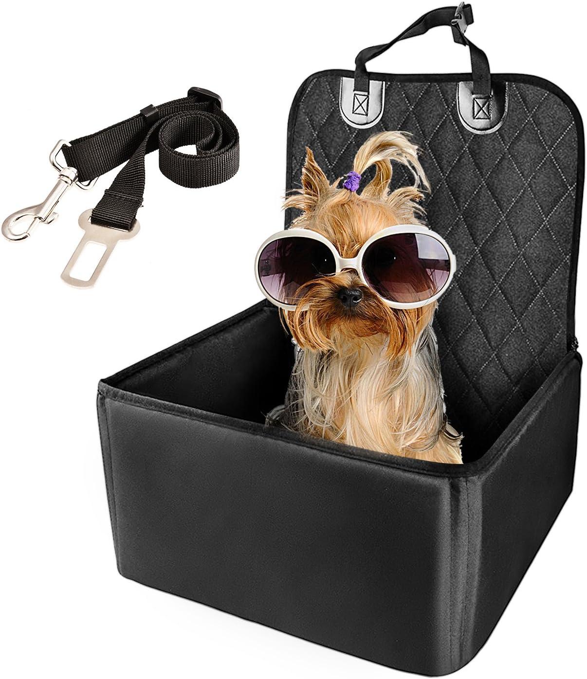 WZTO Protector de Coche para Perro, Asiento de Perro Impermeable Cubierta Antideslizante Durable Protector de Mascotas de Estilo Hamaca Universal con Cinturón de Seguridad