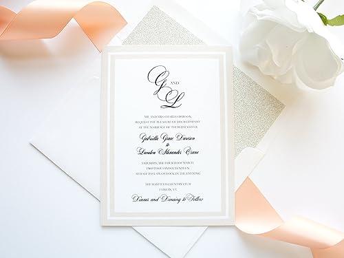 Wedding Invitation Suite #GIS Printable Wedding Invitation Simple Wedding Invitation Wedding Invitation Set Rose Gold Wedding Invitation