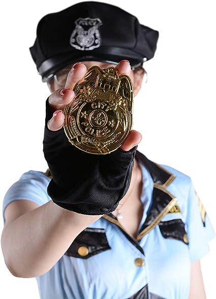 Amazon.com: Disfraz de policía para mujer, oficial de ...