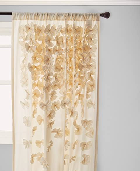 Lush Decor Riley Window Curtain 84 By 54 Inch Ivory