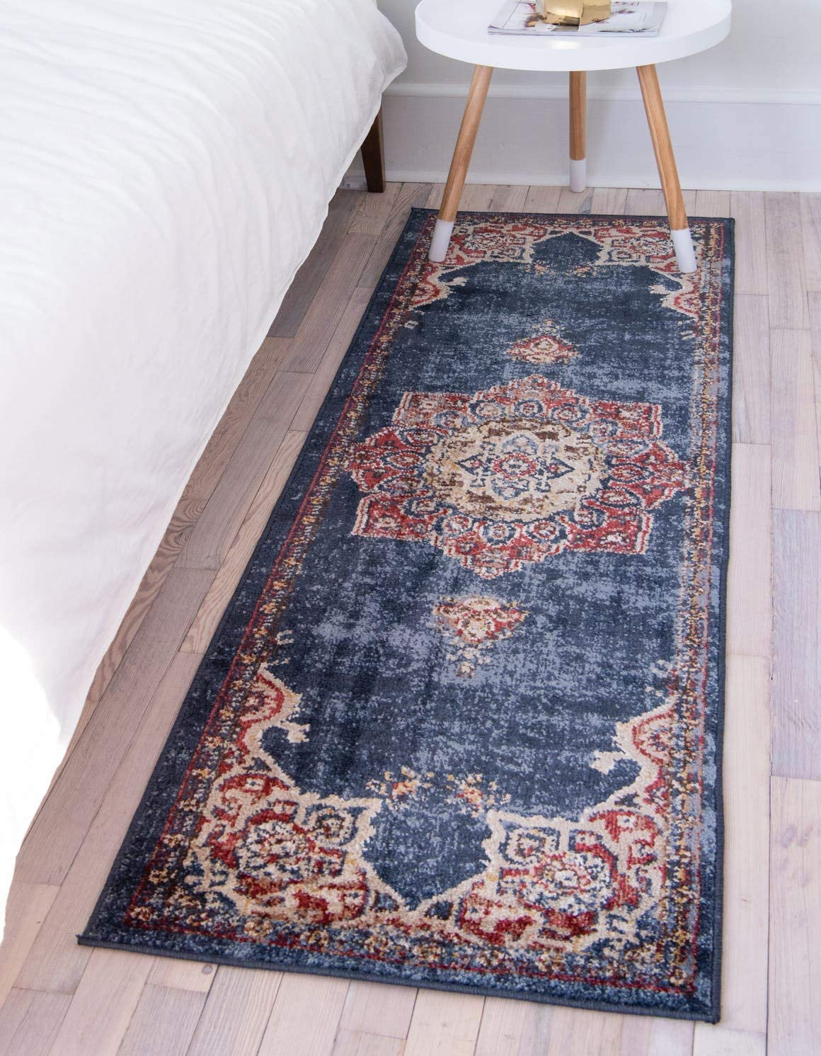 Unique Loom Utopia Collection Traditional Medallion Vintage Warm Tones Dark Blue Runner Rug 2 0 x 6 0