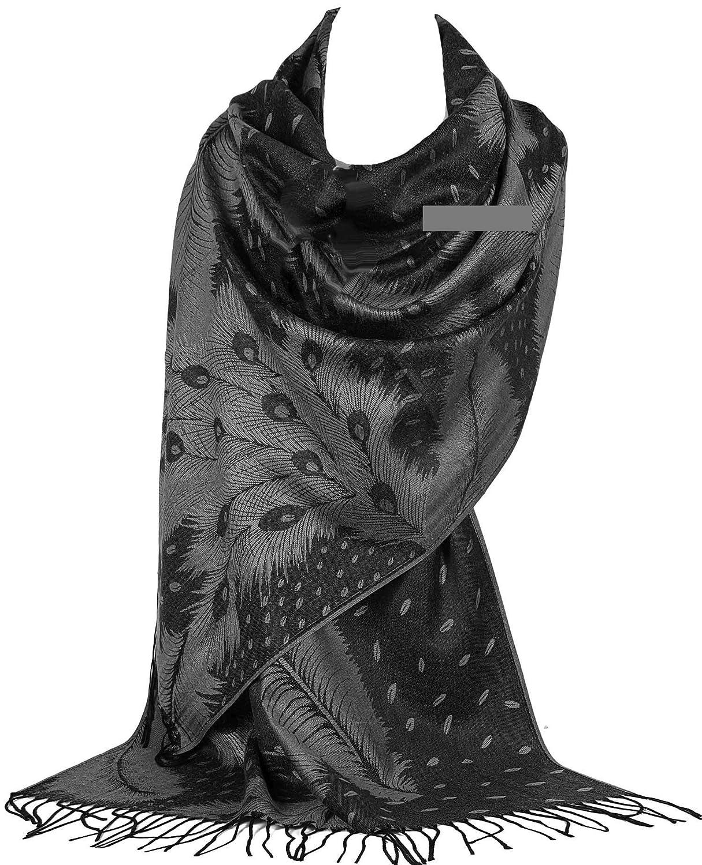 GFM® Sciarpa di stile Pashmina di disegno della piuma del pavone (Pckpash)…