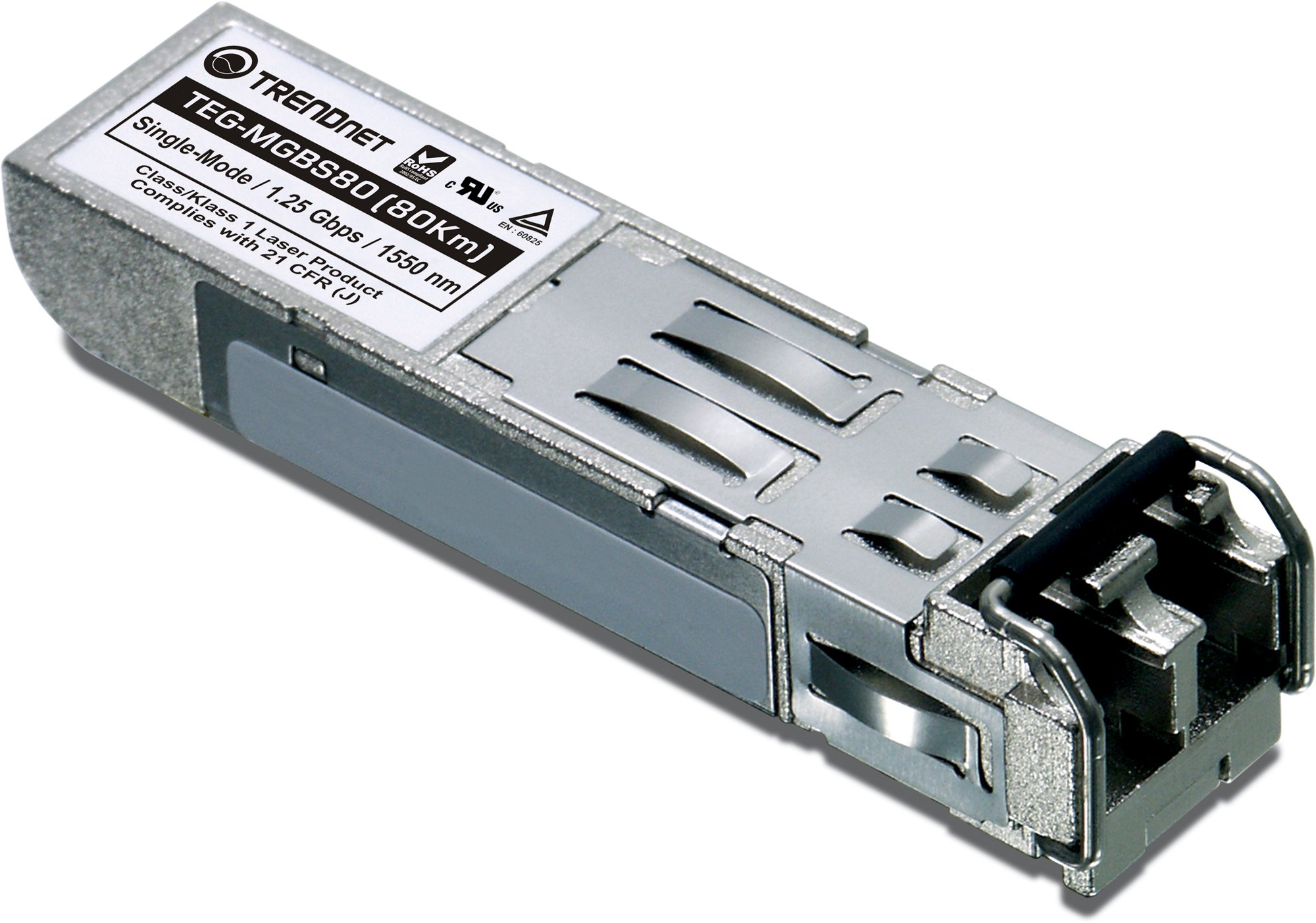 TRENDnet Mini-GBIC Single-Mode LC Module, Connect with a standard Mini-GBIC Slot, Up to 80 Km (49.7 Miles), TEG-MGBS80 by TRENDnet