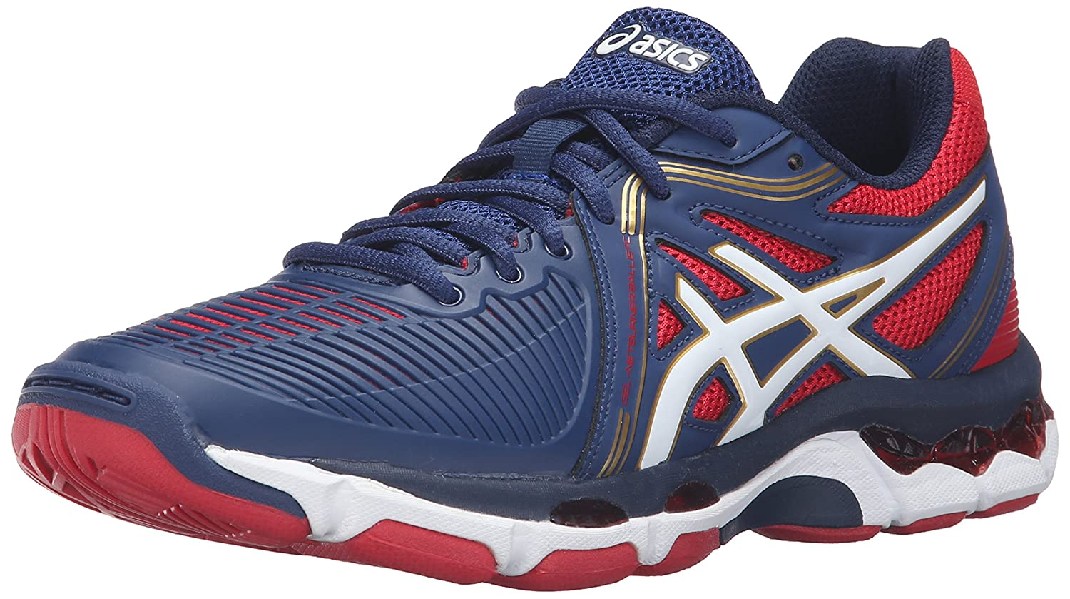 Asics Frauen Gel-Netburner Ballistische Schuhe  39 EU|Estate Blue/White/True Red