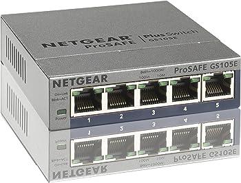 Netgear ProSAFE Plus 5-Port Gigabit Web Managed Switch